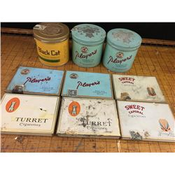 LOT OF TOBACCO TINS