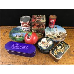 LOT OF MISC TINS