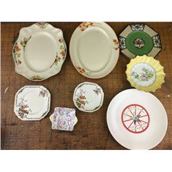 LOT OF VARIOUS PLATES WEDGWOOD SHELLEY ETC