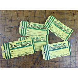 LOT OF 5 PRINCE ALBERT DAIRY CREAM TAGS