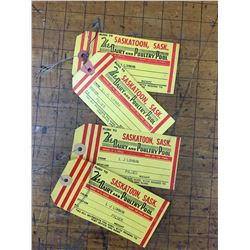 LOT OF 4 SASKATOON DAIRY CREAM TAGS