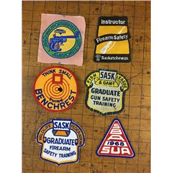 VARIOUS VINTAGE PATCHES FIREARMS ETC