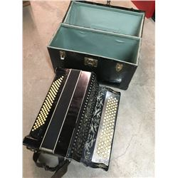 ANTIQUE ACCORDIAN WITH ORIGINAL CASE MADE IN WINNIPEG