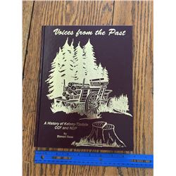 VOICES OF THE PAST KELSEY TISDALE SASK HISTORY BOOK