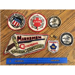 VINTAGE SHOOTING RELOADING AND GUN RELATED PATCHES WINCHESTER DOMINION