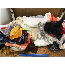 LOT OF TABLE LINENS AND SCARVES