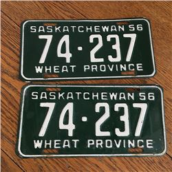 PAIR OF 1956 SASK LICENCE PLATES