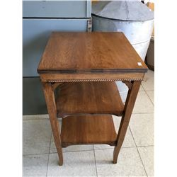 """ANTIQUE SIDE TABLE 28"""" TALL x 15 1/4"""" x 15 1/4"""""""