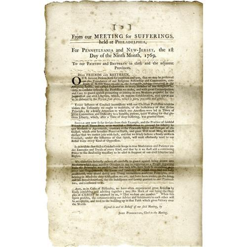 The Quakers Response To The Non Importation Agr The Quakers