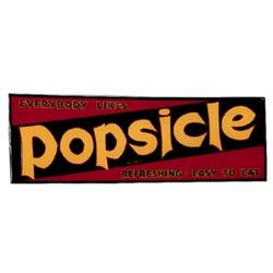 30's Popsicle emboss.tin candybar sign