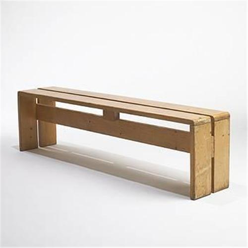 charlotte perriand bench from les arcs. Black Bedroom Furniture Sets. Home Design Ideas