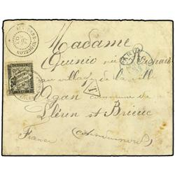ST. PIERRE AND MIQUELON Unpaid envelope to France