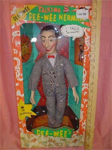pee wee herman talking doll by matchbox. Black Bedroom Furniture Sets. Home Design Ideas