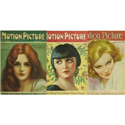 Motion Picture Magazine Group of 26 (1925-28). B Motion Picture Magazine Group of 26 (1925-28).