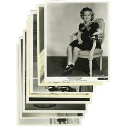 Shirley Temple Photo Group. Eight vintage, unsi Shirley Temple Photo Group.