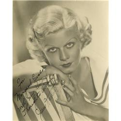 Jean Harlow Photo Signed by Mama Jean. This 7 Jean Harlow Photo Signed by Mama Jean.