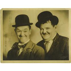 Laurel and Hardy Signed Photo. They ranked as t Laurel and Hardy Signed Photo.