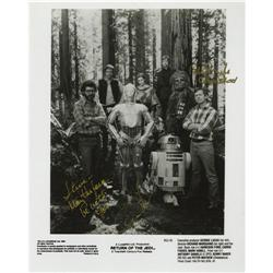 George Lucas and Peter Mayhew Signed Photo. Thi George Lucas and Peter Mayhew Signed Photo.