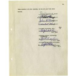 "Marx Brothers ""Duck Soup"" Signed Contract. An em Marx Brothers ""Duck Soup"" Signed Contract."