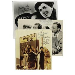 "Funny Guys Autograph Lot. Features a color 8"" x Ray Bolger Signed Photo."