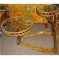 Antique Chinese Double Wheel Table #865772