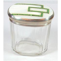 Crystal Jar with Enameled Silver top #865873