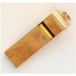 14 Kt Pink Gold Whistle #865879