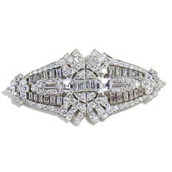 Platinum and Diamond Double Clip Pin #865894