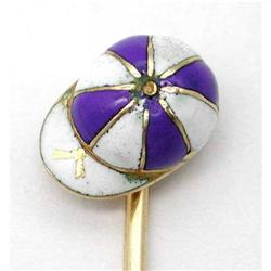 14 Kt. Gold and Enameled Jockey's Hat Stickpin #865895