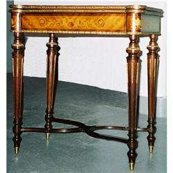 19th-century marquetry card table #865906