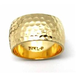 14Kt. Gold 1950s Wide Wedding Band #865913