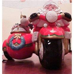 Santa on a Motorcycle by F&F #865937
