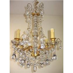 Antique French Crystal Chandelier - Exceptional #865946