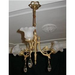 Exquisite Antique French Crystal Chandelier ! #865952