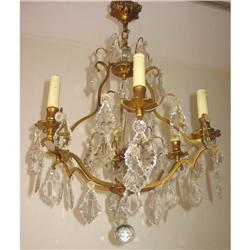 Sparkling Antique French Chandelier with Spire #865954