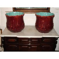 PAIR of  French Large ceramic planters  #866048