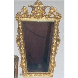 Empire  carved Wood Mirror gilt  #866049