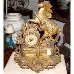 Horse sculpture with  Clock  #866060