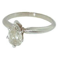 0.70 carat PEART CUT DIAMOND SOLITAIRE RING new #866067