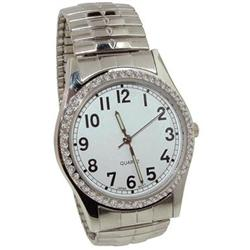 GENTS WRIST WATCH in white gold with DIAMONDS #866071