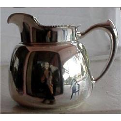 ANTIQUE AMERICAN ST SILVER WATER PITCHER JUG #866182