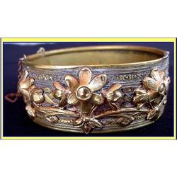 ANTIQUE MIXED GOLD METAL BRACELET GYPSEY BAND #866216
