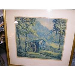F.LESLIE THOMPSON ORIG. ETCHING  #877221