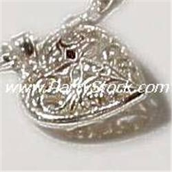 925 SILVER HEART FLORAL FILIGREE CHARM