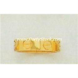 HEAVY! 14K SOLID YELLOW GOLD SCREW HEAD RING 7.7