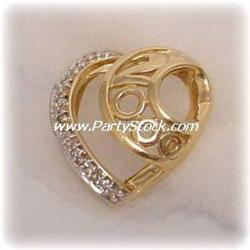 BIG VINTAGE 2000 COMMEMORATIVE 14K GOLD DIAMOND P