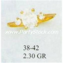 14K GOLD MARQUIS CUT LAB CREATED DIAMOND CZ RING,