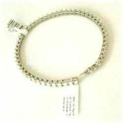 18K GOLD TENNIS BRACELET 7 CTW DIAMONDS