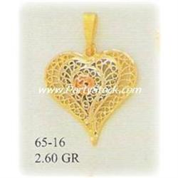 14K Gold Pendant Charm Jewelry Colgante Filigree