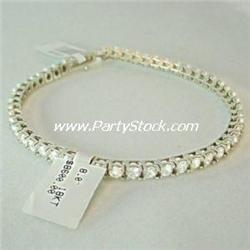 18K GOLD 8 CTW DIAMOND TENNIS BRACELET